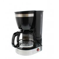 Cafetiera Scent Well, 800 W, 1.25 l, vas sticla, anti-picurare, filtru detasabil/lavabil, Negru