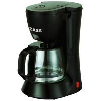 Cafetiera Zass, 600 W, 0.6 l, 6 cesti, sistem anti-picurare, negru