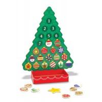Calendar de Craciun din lemn Melissa and Doug, 24 ornamente