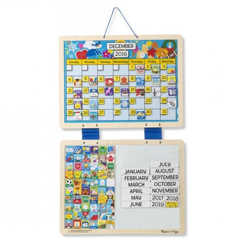 Calendar din lemn magnetic Melissa and Doug 2021 shopu.ro