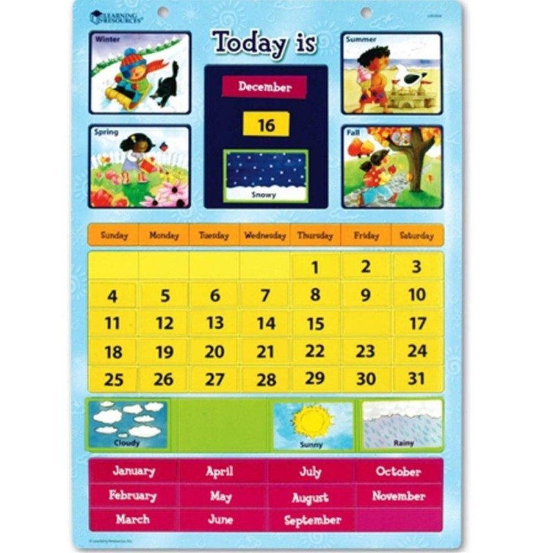 Calendar educativ magnetic Learning Resources, 51 piese magnetice, 30.5 x 42 cm 2021 shopu.ro