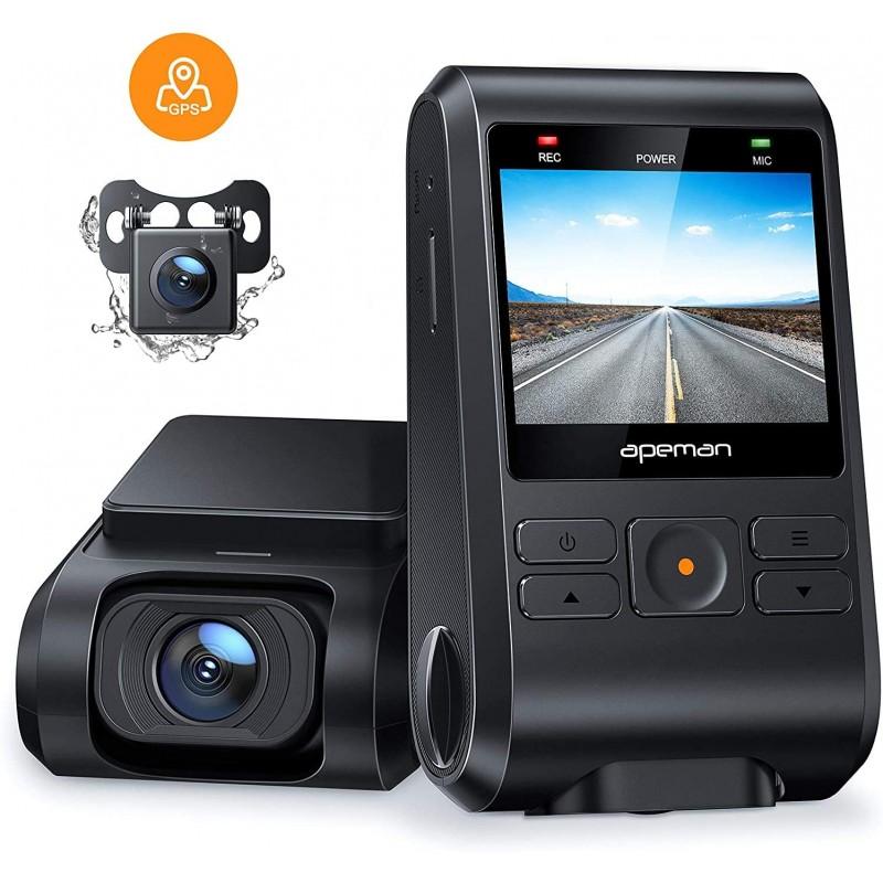 Camera auto DVR dubla Apeman C550, Full HD, unghi 170 grade, detector miscare, WDR, G-Sensor, mod parcare 2021 shopu.ro