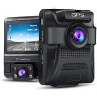 Camera auto DVR dubla Crosstour, GPS, Full HD, unghi 170 grade, Night Vision, WDR, G-Sensor, mod parcare