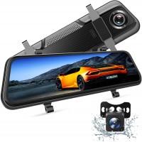 Camera auto DVR Dubla Oglinda VanTop, Full HD, display 10 inch, IPS, bord si spate, touch screen, night vision, unghi 170 grade, G senzor