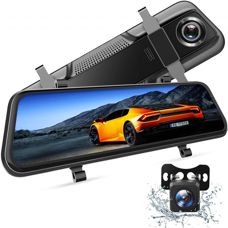 Camera auto DVR Dubla Oglinda VanTop, Full HD, display 10 inch, IPS, bord si spate, touch screen, night vision, unghi 170 grade, G senzor 2021 shopu.ro