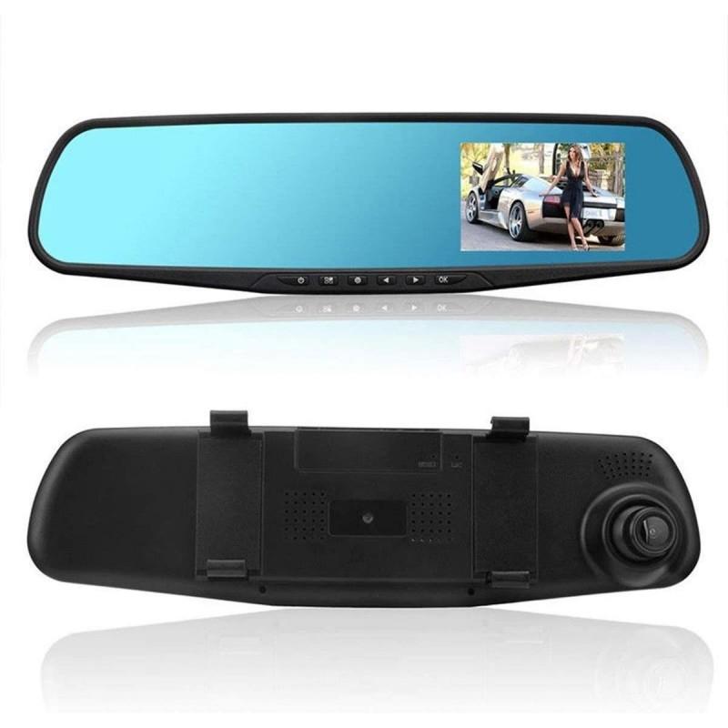 Camera auto tip oglinda Siegbert Nightvision, 400 mAh, inregistrare dubla fata/spate 2021 shopu.ro