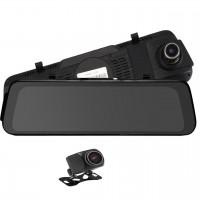 Camera auto Siegbert, 4030 x 3024, HD, tip oglinda retrovizoare, inregistrare dubla fata/spate, nightvision, senzor G, Negru