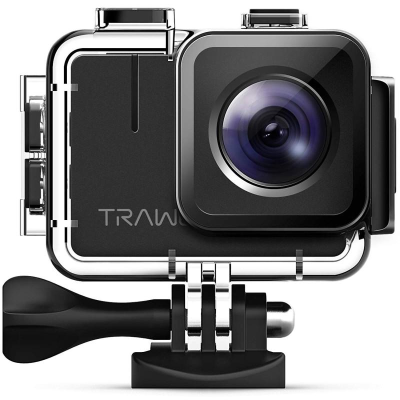 Camera video sport 4K Apeman Trawo, 50 fps, Wi-Fi, Stabilizator imagine, 2 acumulatori 2021 shopu.ro