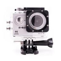 Camera video sport E-Boda, 4K Ultra HD, Wi-Fi, 2 inch, ecran LCD, MicroSD, HDMI, rezistenta la apa, accesorii incluse, Gri