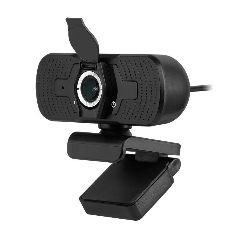 Camera Web Rebel, 1080p, 1920 x 1080 px, USB 2.0, format MP4, 30 FPS, cablu 1.4 m, baza reglabila, microfon incorporat, Negru 2021 shopu.ro