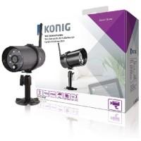 Camera IP exterior HD Konig, functie Wi-Fi, negru