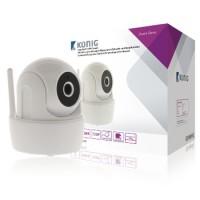 Camera WiFi Konig, 720p, pan tilt, material ABS, alb