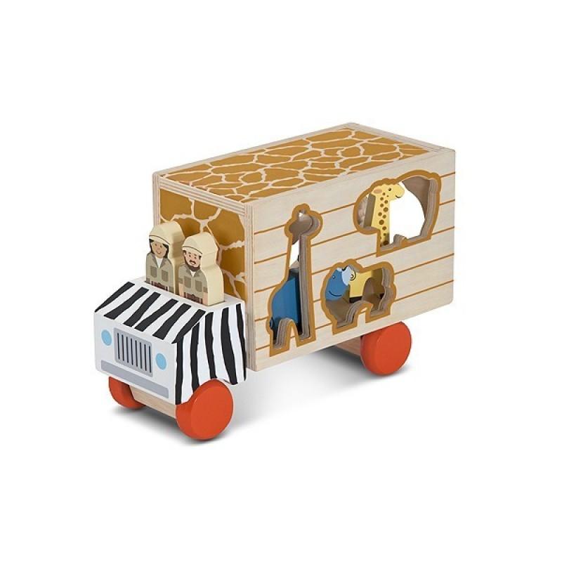 Camion cu forme de sortat Melissa and Doug, 2 personaje 2021 shopu.ro