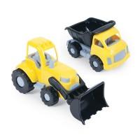 Camion si excavator Dolu, 12 x 20 x 11.5 cm, 2 ani+