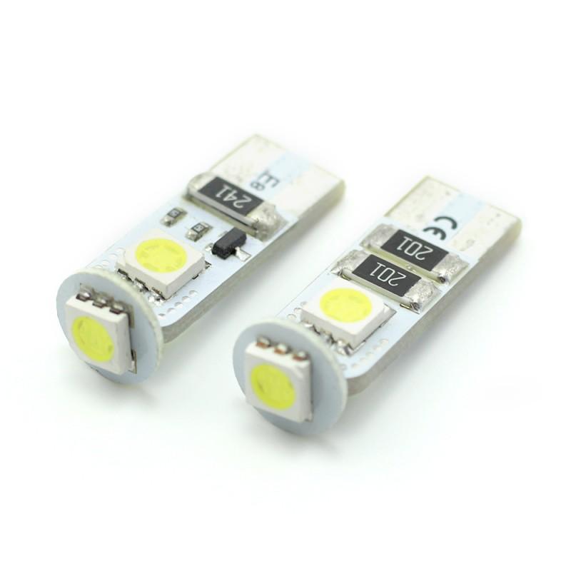 Set 2 becuri LED pentru iluminat interior/portbagaj Carguard, 3 W, 12 V, 54 lm, tip SMD, T10, Alb xenon 2021 shopu.ro