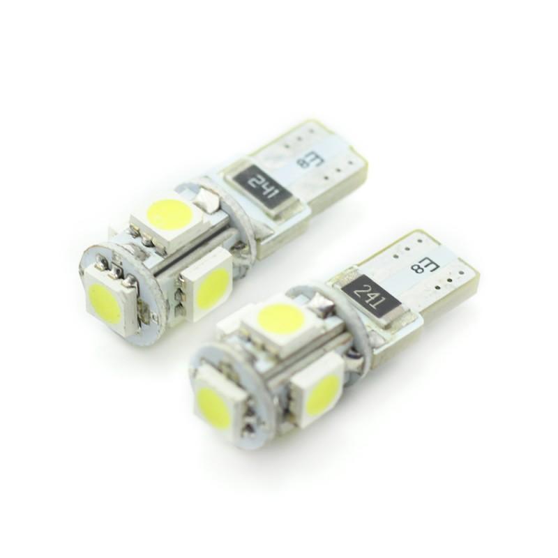 Set 2 becuri LED pentru iluminat interior/portbagaj Carguard, 3 W, 12 V, 90 lm, tip SMD, T10, Alb xenon 2021 shopu.ro