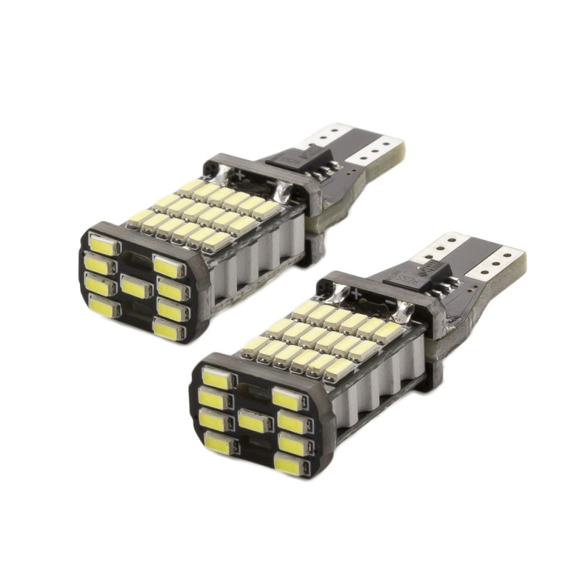 Set 2 becuri LED pentru iluminat interior/portbagaj Carguard, 5 W, 12 V, 450 lm, T10, Alb 2021 shopu.ro