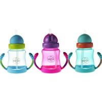 Cana anticurgere Minut Baby, manere si pai silicon, 210 ml, 6 luni+