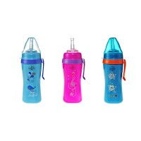 Cana anticurgere Minut Baby, pai silicon, clips prindere, 360 ml, 6 luni+