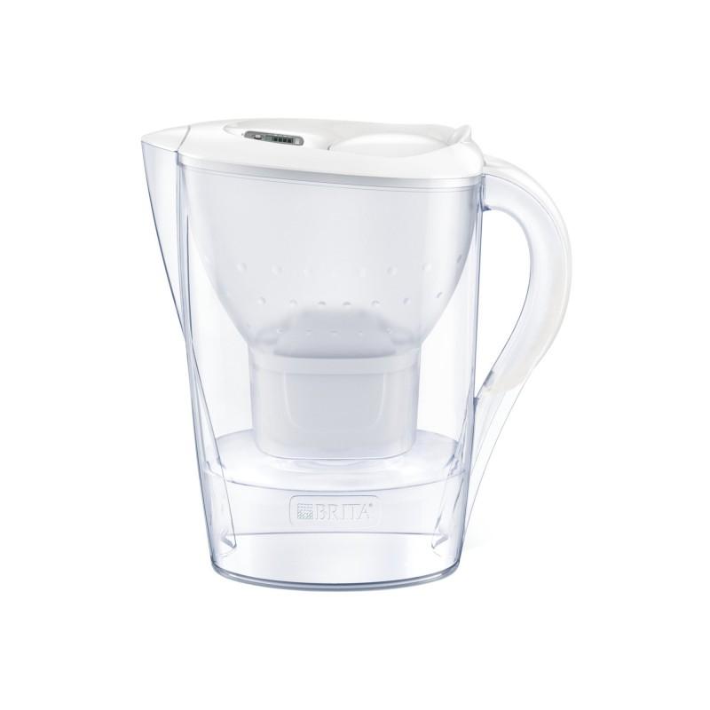 Cana filtranta BRITA Marella Maxtra+, 2.4 L, cartus filtrant, indicator memo, plastic, White 2021 shopu.ro