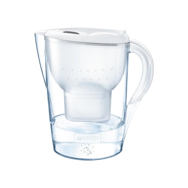 Cana filtranta BRITA Marella Cool, 2.4 L, cartus filtrant, forma ergonomica, plastic, White 2021 shopu.ro