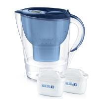 Starter pack Brita Marella XL, 3.5 L, 2 filtre, maxtra+, carbune activ, palnie, carafa, capac plastic, indicator memo, Albastru