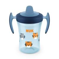 Cana cu cioc Evolution Trainer Nuk, 230 ml, polipropilena, 6 luni+, Albastru