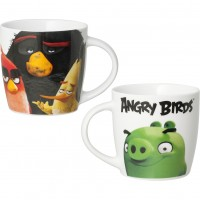 Cana portelan Angry Birds Lulabi, 330 ml, maner confortabil
