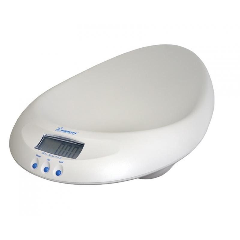 Cantar digital bebelusi Momert, functie hold, ecran LCD, maxim 20 kg, 0 luni+, Alb 2021 shopu.ro
