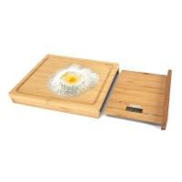 Cantar bucatarie Pem, LCD, blat taiere bambus, maxim 5 kg, 28 cm, picioare antiderapante, baterie inclusa