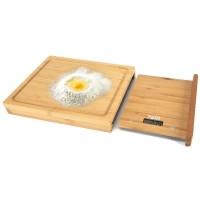 Cantar bucatarie Pem, LCD, fund lemn bambus, maxim 5 kg, 38 cm, baterie inclusa