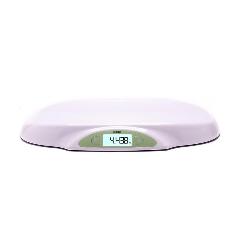 Cantar electronic pentru bebelusi E-Boda, 570 x 340 x 66 mm, plastic, display LCD, maxim 25 kg, Alb 2021 shopu.ro