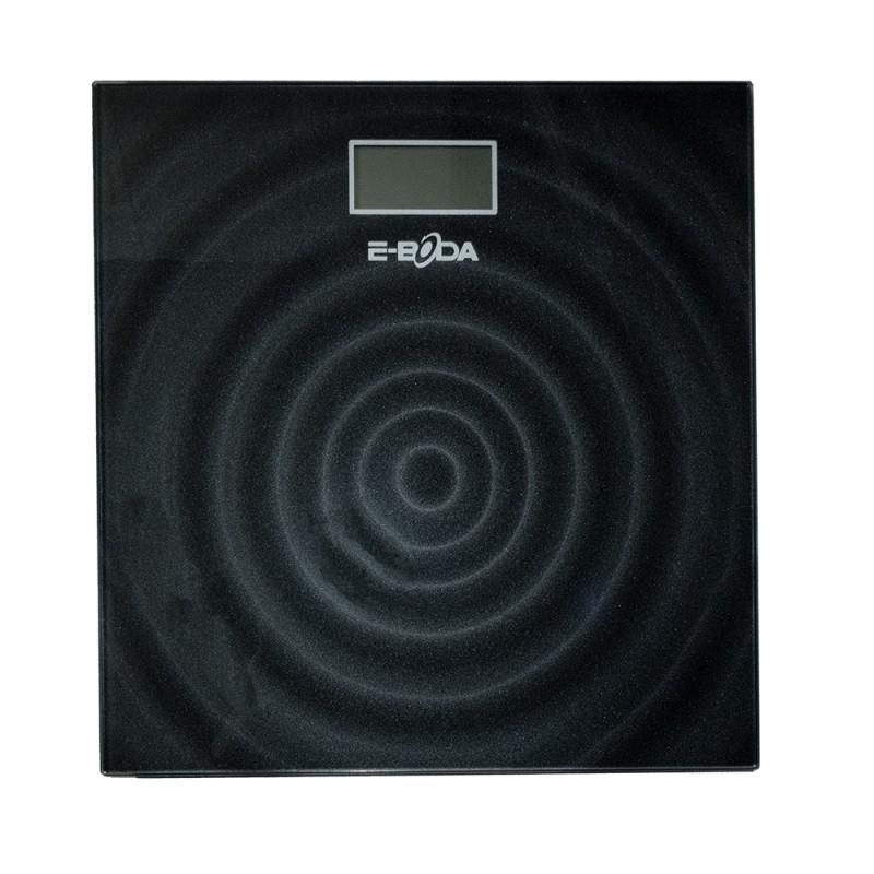Cantar electronic E-Boda, 64 x 29 mm, sticla, afisaj LCD, maxim 180 kg, Negru 2021 shopu.ro