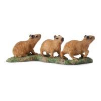 Figurina Capibara pui Collecta, 7.5 x 3.3 cm, plastic cauciucat, 3 ani+, Maro