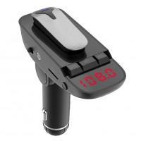 Car kit auto Siegbert ER9, USB, suport cardSD, memorare frecventa, casca bluetooth inclusa