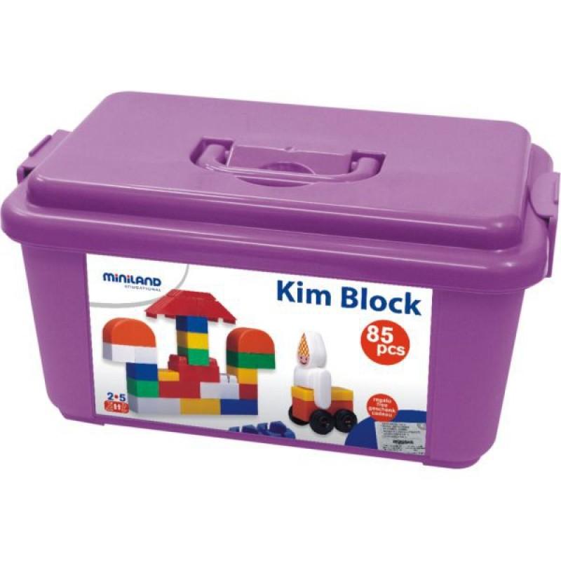 Caramizi de construit Kim Blocks, 85 piese 2 ani+ 2021 shopu.ro