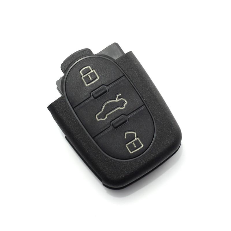 Carcasa cheie Audi Carguard, 3 butoane, baterie 1616, Negru 2021 shopu.ro