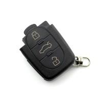 Carcasa cheie Audi Carguard, 3 butoane, baterie 2032, Negru