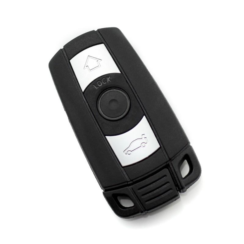 Carcasa cheie BMW Smart Carguard, lama de urgenta, model 1, Negru/Argintiu 2021 shopu.ro