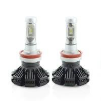 Set 2 becuri LED pentru faruri Carguard, 4000 lm, soclu H8, Alb