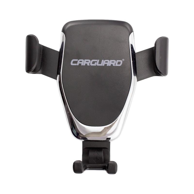 Suport auto cu incarcator wireless Carguard, conexiune microUSB, brate auto-ajustabile 2021 shopu.ro