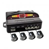 Set senzori parcare wireless Carguard, LED, 4 senzori, unitate centrala, semnal acustic