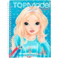 Carnetel de colorat cu coperta 3D mic Top Model Depesche, Multicolor