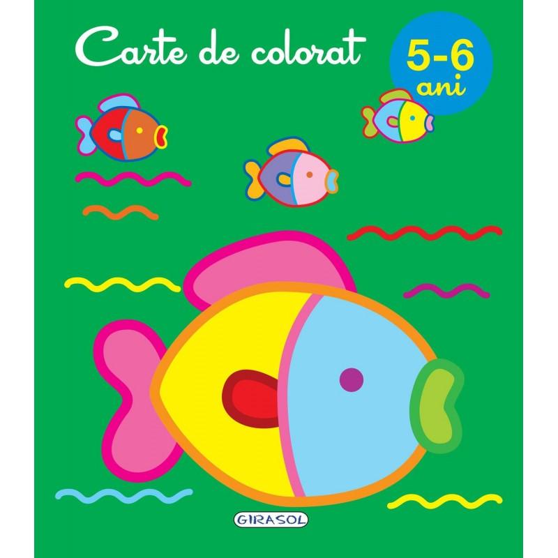 Carte de colorat Girasol, 5-6 ani 2021 shopu.ro