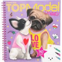 Carte de colorat Create your Doggy Top Model Depesche, 22 x 21 x 1 cm