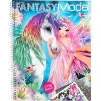 Carte de colorat Create your Fantasy Model Depesche, 3 pagini autocolante