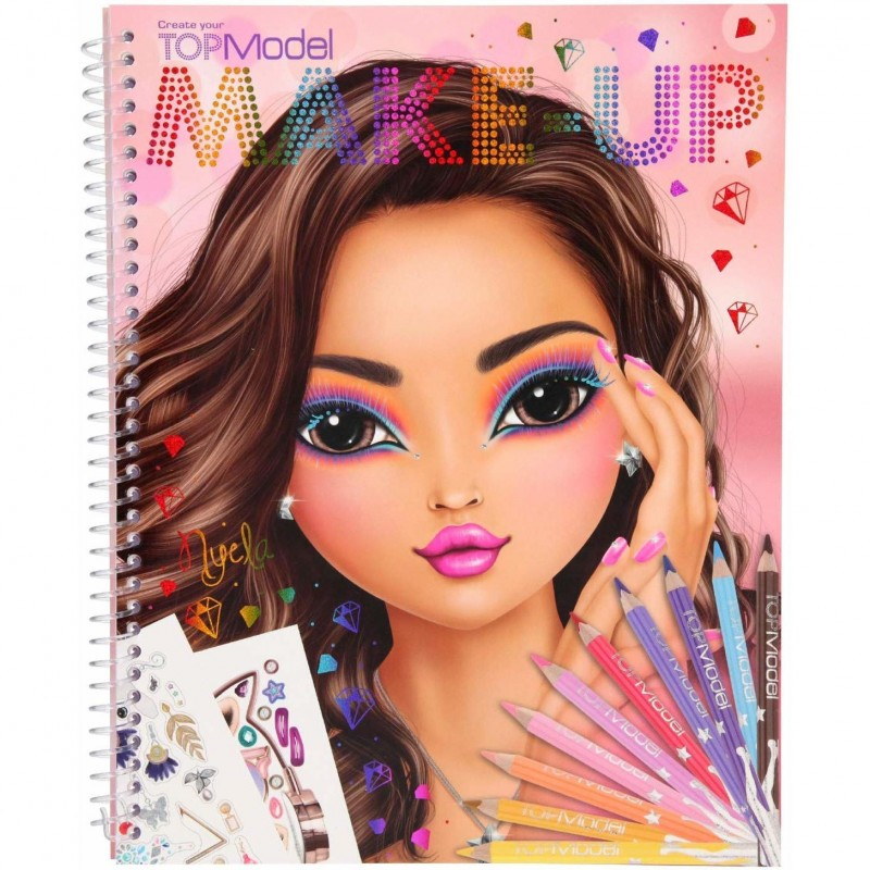 Carte de colorat Create Your Make-Up Top Model Depesche, 24 x 19.5 x 1 cm, 5 ani+ 2021 shopu.ro