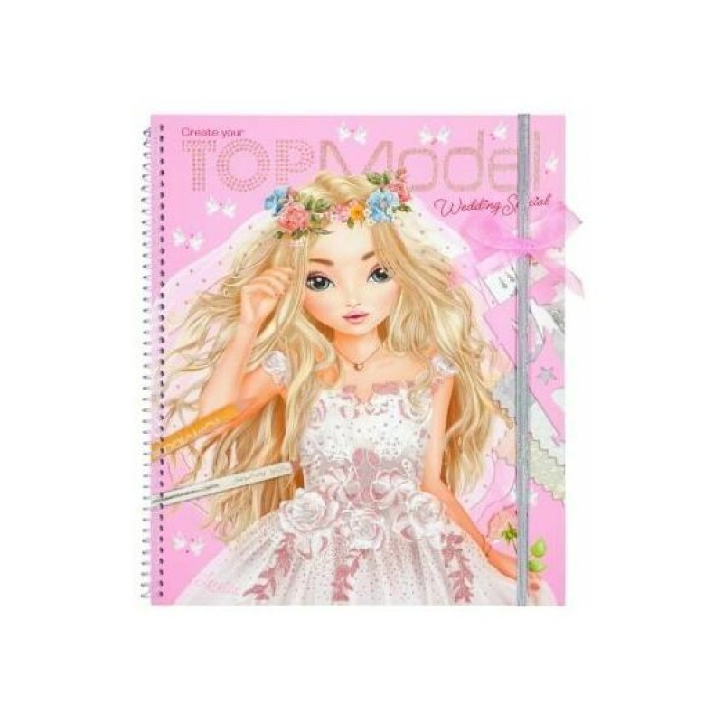 Carte de colorat Creatii Nunta Depesche, sabloane/pagini cu autocolante incluse, 3 ani+, Roz 2021 shopu.ro