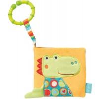 Carte din plus pentru bebelusi Fehn Crocodil, oglinda, 11 x 11 cm