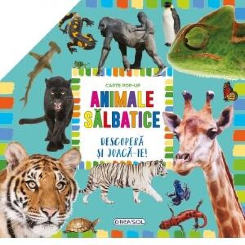 Carte pentru copii pop-up Animale salbatice Girasol, 10 pagini, 3 ani+ 2021 shopu.ro